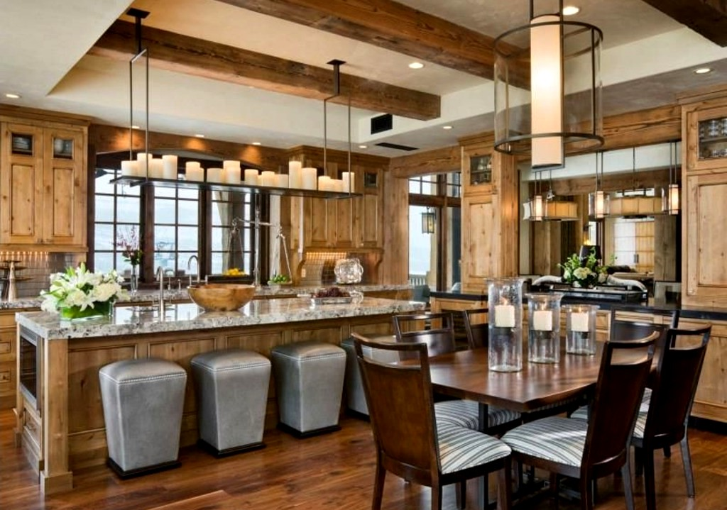 деревянная кухня в интерьере 2