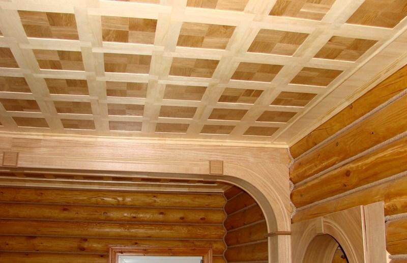 деревянная фанера на потолок