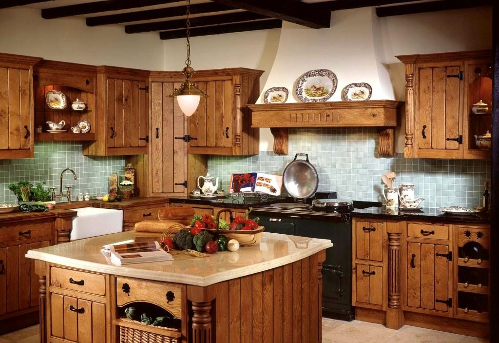 деревянные кухни фото
