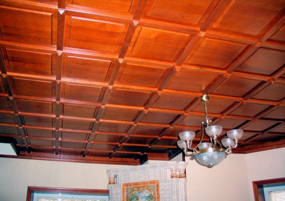 деревянные облицовочные плиты на потолок