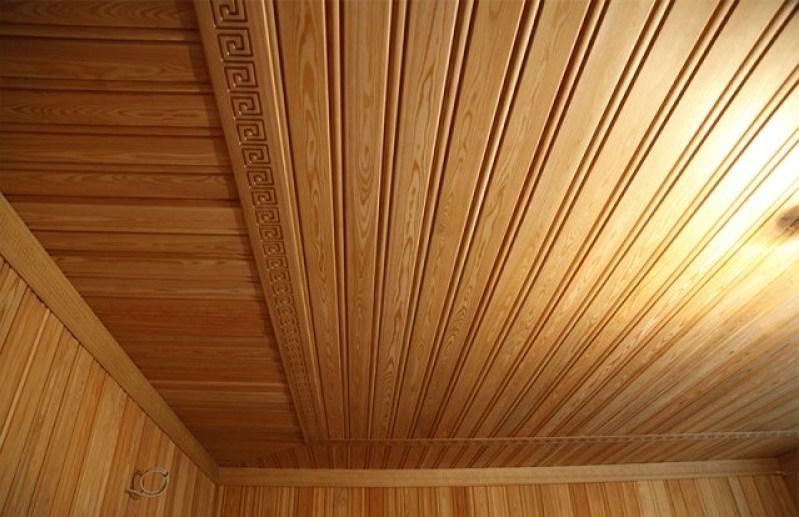 деревянные обои на потолок