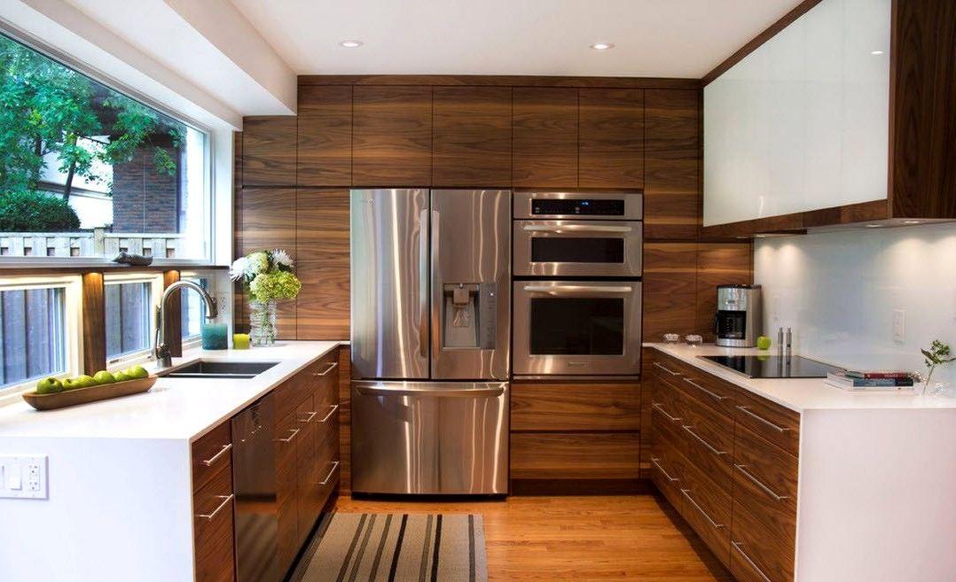 деревянный пол на кухне2