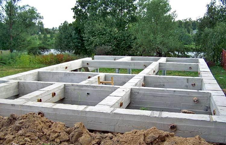 дома и коттеджи из пеноблоков фундамент