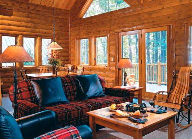 интерьер деревянного дома гостинная6