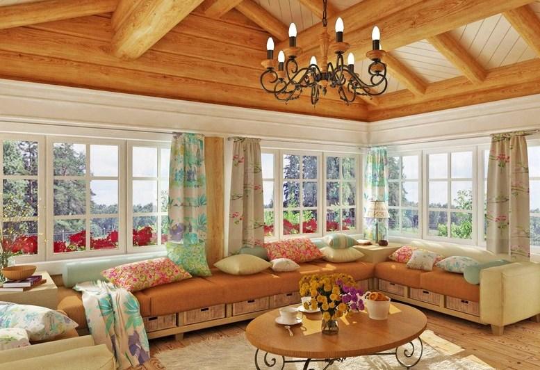 интерьер деревянного дома 2