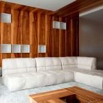 интерьер зала деревянного дома