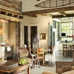 интерьер зала деревянного дома2