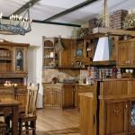 кухня деревянная кантри