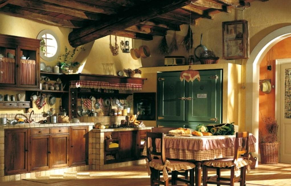 кухня деревянная классическая