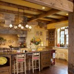 кухня деревянная рустик