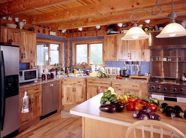 Кухня из натурального деревянного массива