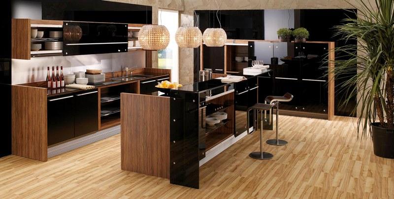 современная деревянная кухня4