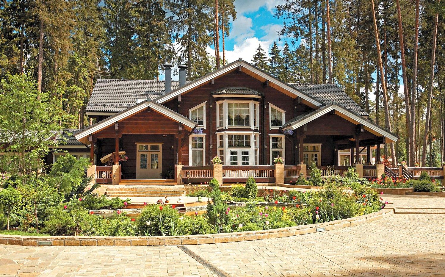деревянные дома коттеджи