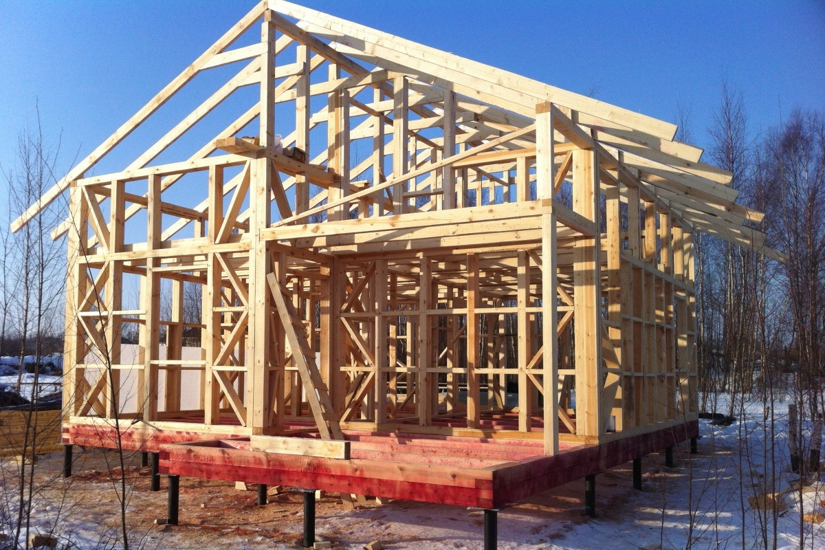 деревянные коттеджи строительство2