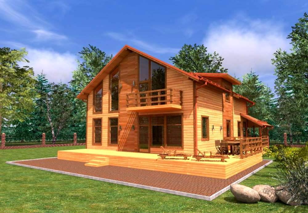 проекты деревянных коттеджей 2