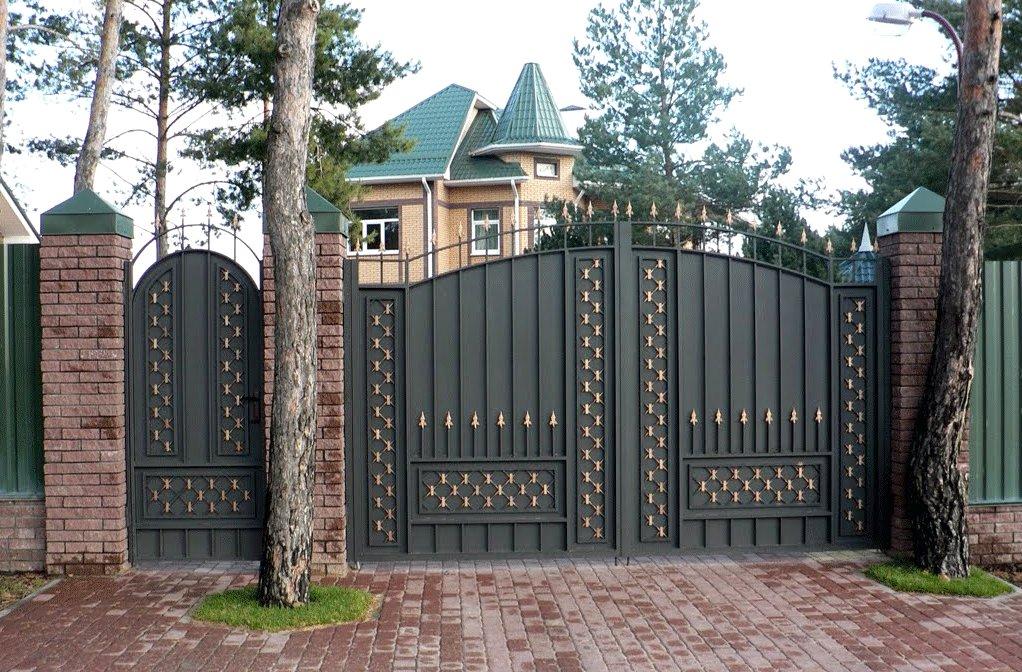 железный забор для дачи