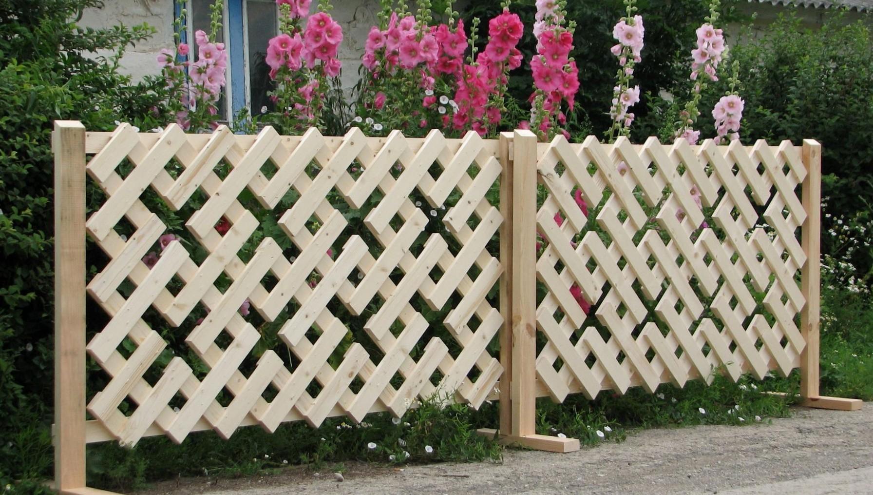 декоративные заборы для сада