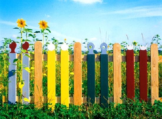 декоративный забор из дерева 2