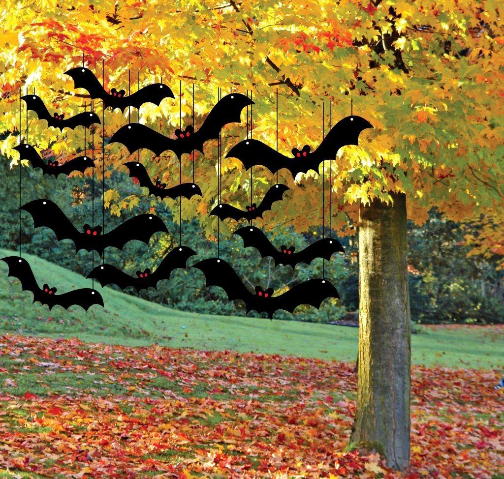 летучие мыши из картона на хэллоуин