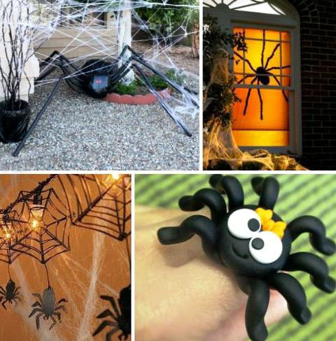 паучки на хэллоуин