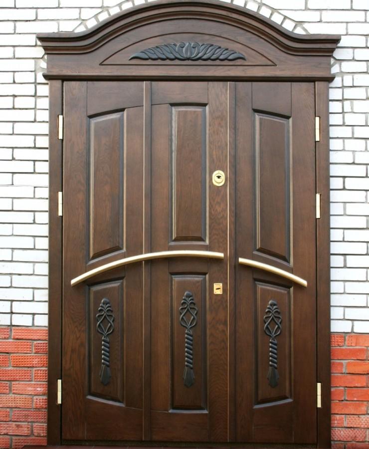 двери для загородного дома железные двойные