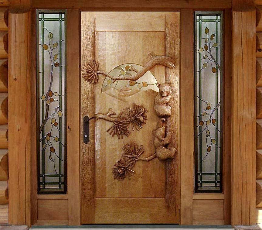 деревянная дверь2