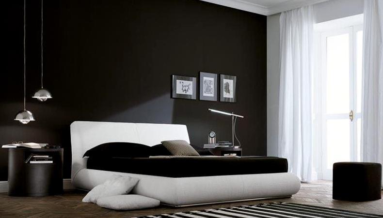 черный цвет в интерьере