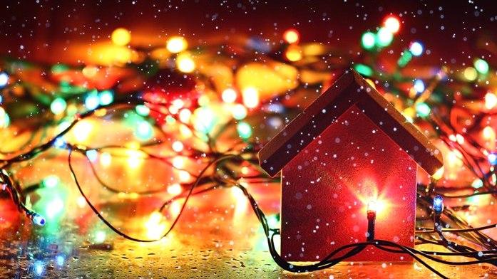 новогоднее освещение главная