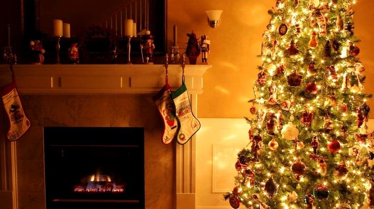 новогоднее освещение елки