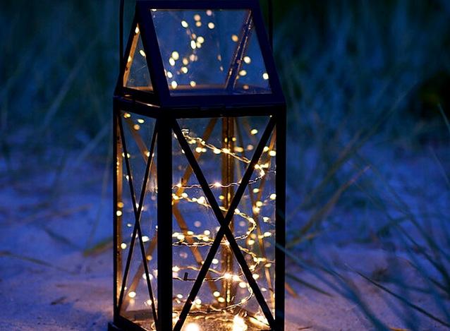 новогоднее освещение фонарь