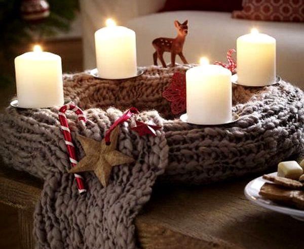 новогодний венок на стол
