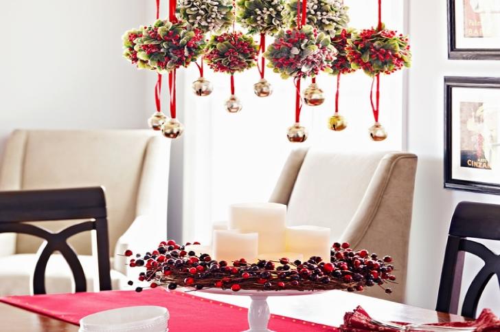 новогодний декор украшение потолка