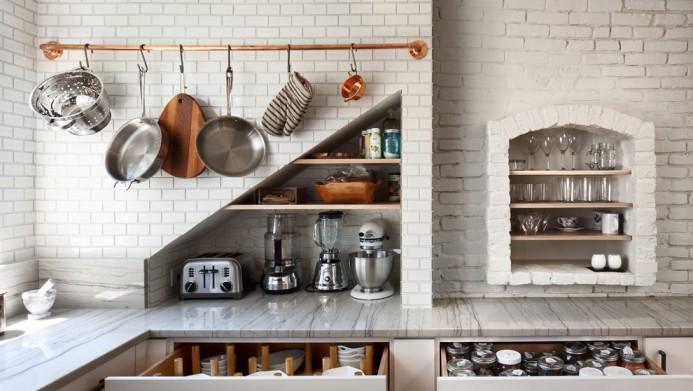 дачная кухня фото рейлинги