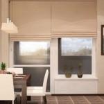 французское окно на кухне