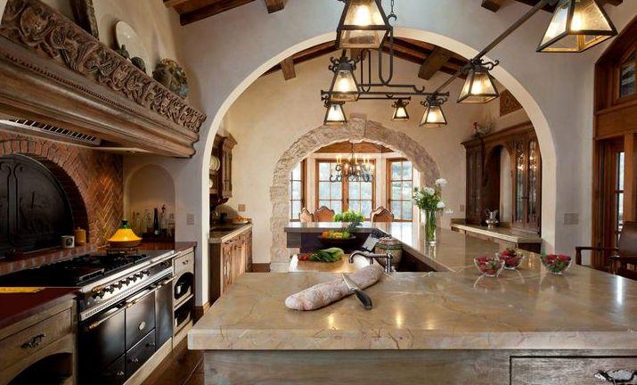 Колониальный стиль в интерьере кухня