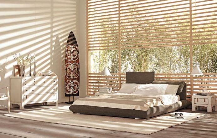 Колониальный стиль в интерьере спальня
