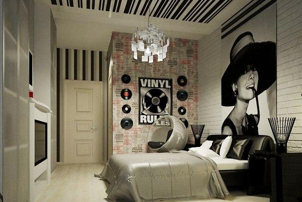 Стиль винтаж в интерьере спальня