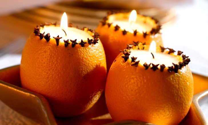 новогодние подсвечники своими руками их цедры апельсина