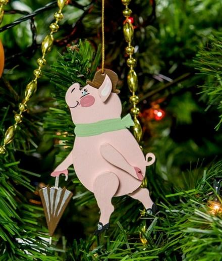 как украсить дом и елку на 2019 год свиньи стол комнаты