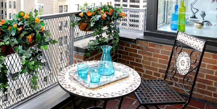луковичные на балконе